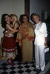 BARBARA D'URSO CON MARA VENIER, NORI CORBUCCI, MARINA CICOGNA <br /> FESTA DI PRIMAVERA A VILLA FRACASSI ROMA 1997