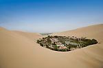 The desert oasis of Huacachina, Peru.