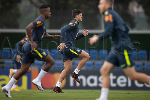 11th November 2020; Granja Comary, Teresopolis, Rio de Janeiro, Brazil; Qatar 2022 qualifiers; Pedro of Brazil during training session in Granja Comary