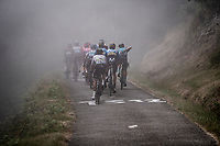 misty up the very steep section (+16%) of the Mur de Péguère (Cat1/1375m/9.3km/7.9%)<br /> <br /> Stage 15: Limoux to Foix(185km)<br /> 106th Tour de France 2019 (2.UWT)<br /> <br /> ©kramon