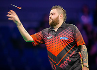 12th March 2020; M and S Bank Arena, Liverpool, Merseyside, England; Professional Darts Corporation, Unibet Premier League Liverpool; Michael Smith during his night six match against Peter Wright