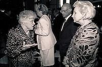 Montreal (qc) CANADA - file Photo - 1990 - <br /> <br /> <br /> <br />  Jeanne Sauve, Governor General of Canada L)