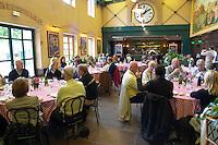 restaurant interior duboeuf hameau du vin romaneche beaujolais burgundy france