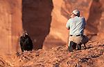 Art Wolfe photographing California Condor, Arizona