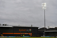 Flood Lights General view of the Hive Stadium during Barnet vs Bromley, Vanarama National League Football at the Hive Stadium on 14th November 2020