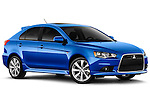 Front three quarter view of a 2012 Mitsubishi Lancer Sportback GT.