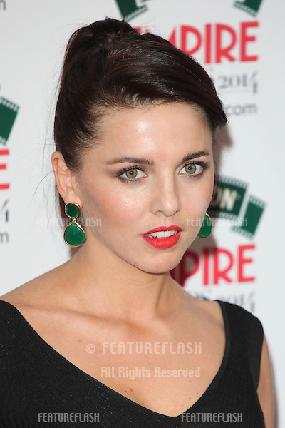 Ophelia Lovibond arriving for the 2014 Empire Film Awards, at the Grosvenor House Hotel, London. 30/03/2014 Picture by: Alexandra Glen / Featureflash
