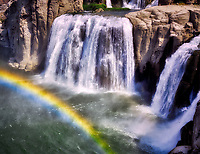 Shoshone Falls with rainbow. Snake River, Idaho.