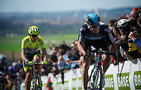 De Ronde van Vlaanderen 2012..Juan Antonio Flecha on the Paterberg