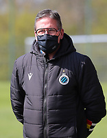 Team delegue Franky Dreypondt of Club Brugge pictured  during the warm up before a female soccer game between Standard Femina de Liege and Club Brugge YLA on the 2nd matchday in play off 1 of the 2020 - 2021 season of Belgian Scooore Womens Super League , saturday 17 th of April 2021  in Angleur , Belgium . PHOTO SPORTPIX.BE | SPP | SEVIL OKTEM