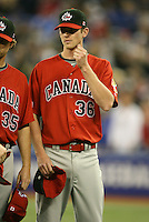 March 7, 2009:  Pitcher Brooks McNiven (36) of Canada during the first round of the World Baseball Classic at the Rogers Centre in Toronto, Ontario, Canada.  Team USA defeated Canada 6-5 in both teams opening game of the tournament.  Photo by:  Mike Janes/Four Seam Images