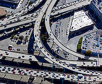 aerial photograph freeway interchange San Francisco, California