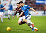 Hearts v St Johnstone…26.01.19…   Tynecastle    SPFL<br />Tony Watt and Marcus Godinho<br />Picture by Graeme Hart. <br />Copyright Perthshire Picture Agency<br />Tel: 01738 623350  Mobile: 07990 594431