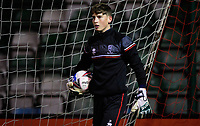 Lincoln City's Sam Long during the pre-match warm-up<br /> <br /> Photographer Chris Vaughan/CameraSport<br /> <br /> EFL Papa John's Trophy - Northern Section - Group E - Lincoln City v Manchester City U21 - Tuesday 17th November 2020 - LNER Stadium - Lincoln<br />  <br /> World Copyright © 2020 CameraSport. All rights reserved. 43 Linden Ave. Countesthorpe. Leicester. England. LE8 5PG - Tel: +44 (0) 116 277 4147 - admin@camerasport.com - www.camerasport.com