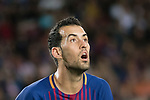 Sergio Busquets Burgos of FC Barcelona reacts during the La Liga 2017-18 match between FC Barcelona and SD Eibar at Camp Nou on 19 September 2017 in Barcelona, Spain. Photo by Vicens Gimenez / Power Sport Images