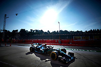 31st October 2020, Imola, Italy; FIA Formula 1 Grand Prix Emilia Romagna, Qualifying;  77 Valtteri Bottas FIN, Mercedes-AMG Petronas Formula One Team, on his way to pole