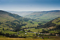 View of Swaledale, North Yorkshire.
