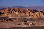 Tourist on top of a huge sand dune Atacama Desert Chile   South America