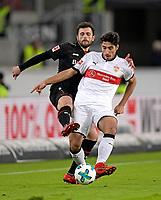 08.12.2017,  Football 1.Liga 2017/2018, 15. match day, VfB Stuttgart - Bayer Leverkusen, in Mercedes Benz Arena Stuttgart. v.li: Admir Mehmedi (Leverkusen)  -  Berkay OEzcan (Stuttgart). *** Local Caption *** © pixathlon<br /> <br /> +++ NED + SUI out !!! +++<br /> Contact: +49-40-22 63 02 60 , info@pixathlon.de