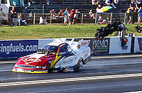 Jun. 1, 2013; Englishtown, NJ, USA: NHRA funny car driver Tim Wilkerson during qualifying for the Summer Nationals at Raceway Park. Mandatory Credit: Mark J. Rebilas-