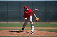 Cincinnati Reds relief pitcher Ben Rowen (44) during a Minor League Spring Training game against the Chicago White Sox at the Cincinnati Reds Training Complex on March 28, 2018 in Goodyear, Arizona. (Zachary Lucy/Four Seam Images)