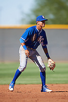 Kansas City Royals Nicky Lopez (4) during an Instructional League game against the Cleveland Indians on October 11, 2016 at the Cleveland Indians Player Development Complex in Goodyear, Arizona.  (Mike Janes/Four Seam Images)
