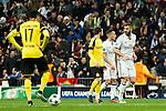 Borussia Dortmund Pierre Aubameyang, Real Madrid's Karim Benzema  during Champions League match between Real Madrid and Borussia Dortmund  at Santiago Bernabeu Stadium in Madrid , Spain. December 07, 2016. (ALTERPHOTOS/Rodrigo Jimenez)