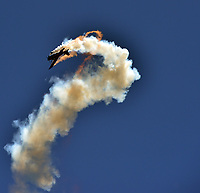 FORT LAUDERDALE, FL - MAY 06: Mike Wiskus in the Lucas Oil Pitts performs in the Ford Lauderdale Air Show on May 6, 2017 in Fort Lauderdale, Florida<br /> <br /> <br /> People:  Mike Wiskus in the Lucas Oil Pitts