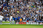 Tranmere Rovers 1 Forest Green Rovers 3, 14/05/2017. Wembley Stadium, Conference play off Final. Tranmere fans celebrate the equalising goal scored by Connor Jennings during the Vanarama Conference play off Final  between Tranmere Rovers v Forest Green Rovers at the Wembley. Photo by Paul Thompson.