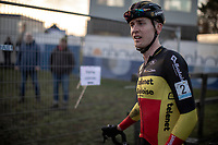 race winner Toon Aerts (BEL/Telenet Baloise Lions) post race <br /> <br /> CX Superprestige Zonhoven (BEL) 2019<br /> Elite & U23 mens race
