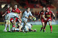James Grindal of Leicester Tigers in action during the LV= Cup first round match between Scarlets and Leicester Tigers at Parc y Scarlets (Photo by Rob Munro, Fotosports International)