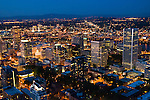 Aerial View of Portland at Night