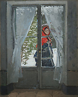 Claude Monet - The Red Kerchief, Portrait of Mrs. Monet (1873). Cleveland, The Cleveland Museum of Art.
