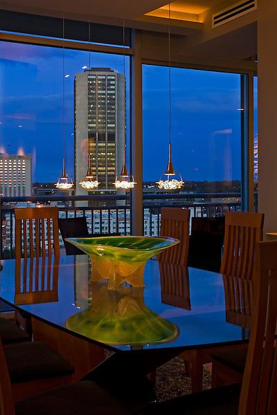 Richmond Condo Dining Room at Dusk