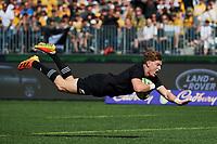 5th September 2021; Optus Stadium, Perth, Australia: Bledisloe Cup international rugby, Australia versus New Zealand;  Jordie Barrett of the All Blacks during the 3rd Bledisloe Cup test match at Optus Stadium