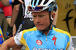 Alexandre Vinokourov (KAZ) Astana Pro Team at sign on before the start of Stage 2 of the 99th edition of the Tour de France 2012, running 207.5km from Vise to Tournai, Belgium. 2nd July 2012.<br /> (Photo by Eoin Clarke/NEWSFILE)