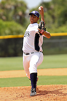 Reinaldo Lopez (36) Pitcher for the GCL Rays delivers a pitch during a game against the GCL Twins on July 16th, 2010 at Charlotte Sports Park in Port Charlotte Florida. The GCL Rays are the the Gulf Coast Rookie League affiliate of the Tampa Bay Rays. Photo by: Mark LoMoglio/Four Seam Images
