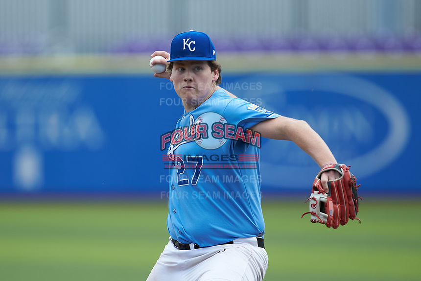 Brody Fowler (27) of Eastside High School (SC) playing for the Kansas City Royals scout team during game six of the South Atlantic Border Battle at Truist Point on September 27, 2020 in High Pont, NC. (Brian Westerholt/Four Seam Images)