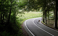 Robert Wagner (DEU/LottoNL-Jumbo) rounding the bend<br /> <br /> Ster ZLM Tour (2.1)<br /> Stage 4: Hotel Verviers > La Gileppe (Jalhay)(190km)