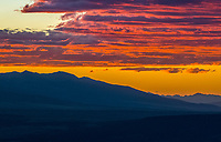 Sunset over mountains, Front Range Colorado