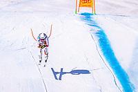 13th February 2021, Cortina, Italy; FIS World Championship Womens Downhill Skiing;   Corinne Suter of Switzerland in action