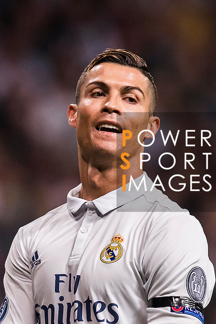 Cristiano Ronaldo of Real Madrid reacts during the 2016-17 UEFA Champions League match between Real Madrid and Borussia Dortmund at the Santiago Bernabeu Stadium on 07 December 2016 in Madrid, Spain. Photo by Diego Gonzalez Souto / Power Sport Images