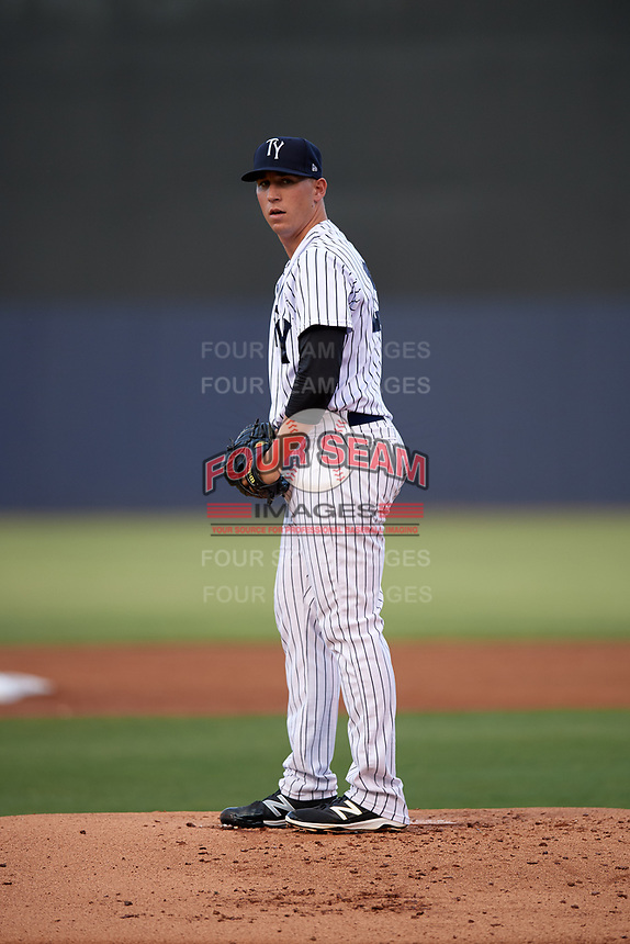 Tampa Yankees starting pitcher Taylor Widener (28) gets ready to deliver a pitch during a game against the Fort Myers Miracle on April 12, 2017 at George M. Steinbrenner Field in Tampa, Florida.  Tampa defeated Fort Myers 3-2.  (Mike Janes/Four Seam Images)