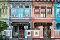 Singapore Koon Seng Road, Joo Chiat District Shop Houses.
