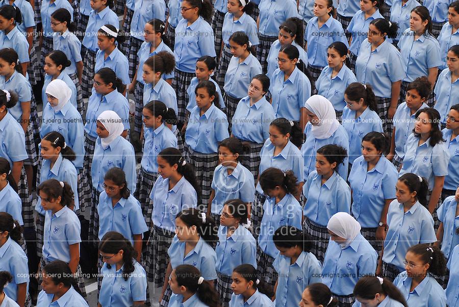 Aegypten Kairo Cairo , Schule der katholischen Kirche fuer christliche und muslimische Kinder in Heliopolis / EGYPT Cairo .school for christian and muslim children, run by the catholic church