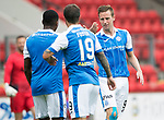St Johnstone v Hartlepool…22.07.17… McDiarmid Park… Pre-Season Friendly<br />Steven MacLean celebrates his goal<br />Picture by Graeme Hart.<br />Copyright Perthshire Picture Agency<br />Tel: 01738 623350  Mobile: 07990 594431