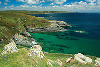 Looking towards the Lizard Peninsula from Piskies Cove near Perranuthnoe, Cornwall