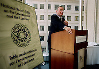 Montreal, May 3rd, 2000.<br /> Pierre Bourque ; Mayor of  Montreal (Quebec, Canada) was one of the guest spkeaker at the ``Liveable Cities for All`` Forum on sustainable communities, May 3rd 2000 in Montreal (Quebec, Canada).