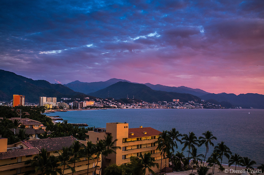 Fine Art Print Photograph of Puerto Vallarta and the beautiful bay of Banderas.<br />