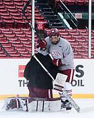Steven Iacobellis (UMass - 16) - The UMass Minutemen practiced at Fenway Park on Friday, January 6, 2017, in Boston, Massachusetts.